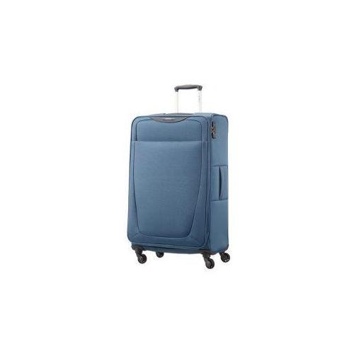 SAMSONITE duża walizka z kolekcji BASE HITS 4 koła zamek szyfrowy z systemem TSA materiał poliester z możliwością poszerzenia