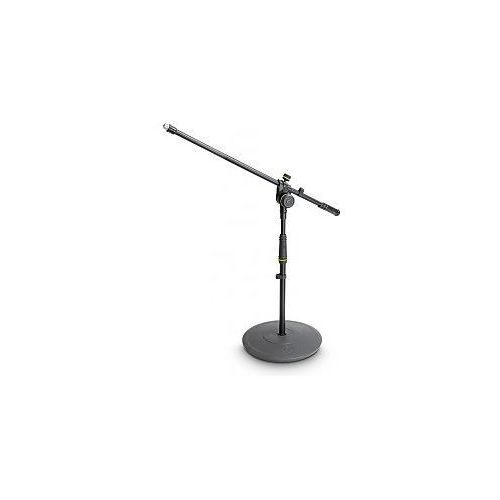 Gravity  ms 2221 b - statyw mikrofonowy, short microphone stand with round base and 2-point adjustment boom