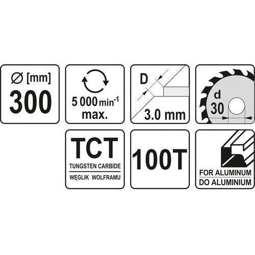 Piła tarczowa do aluminium 350x30x100 mm / yt-6099 / - zyskaj rabat 30 zł marki Yato