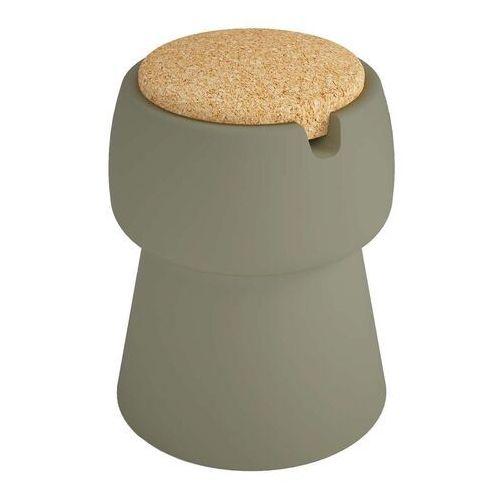 Woood Champ - stołek/stolik/pojemnik zielony/korek-produkt z wadą jok01s03w03(usr00042)