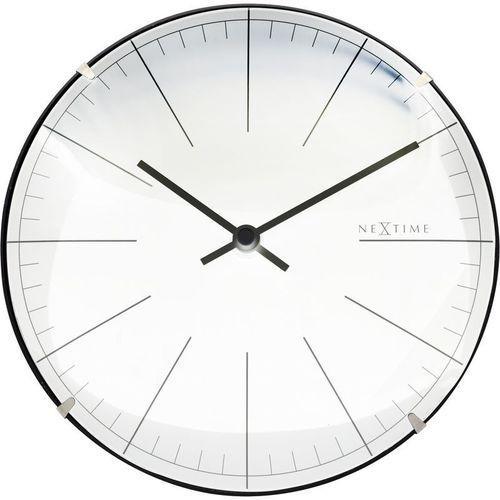 NeXtime - Zegar stojący/ścienny Big Stripe Mini Dome - biały, kolor biały