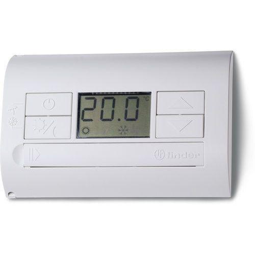 Termostat elektroniczny niebieski-metaliczny, wyświetlacz LCD dzień/noc, lato/zima 1P 5A 230V 1T.31.9.003.1200, 1T-31-9-003-1200