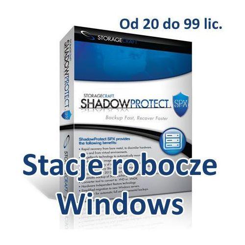 StorageCraft ShadowProtect SPX Desktop (Windows) od 20 do 99 lic.