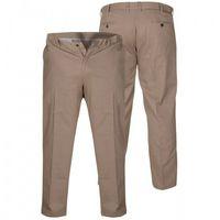 D555 bruno duże spodnie męskie beżowe marki Duke