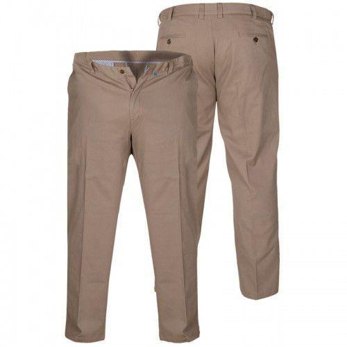 D555 bruno duże spodnie męskie beżowe, Duke