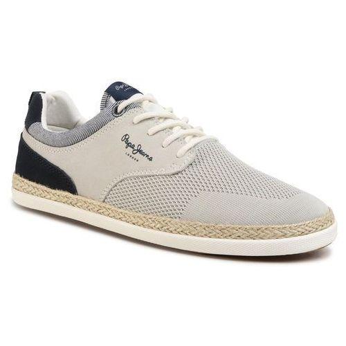 Espadryle - maui sport knit pms10284 white 800, Pepe jeans, 42-45