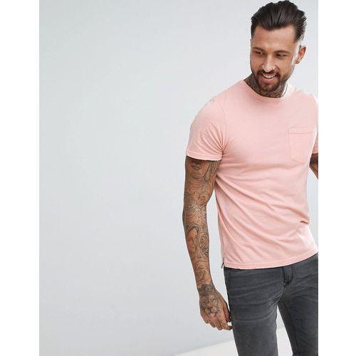 oversized washed pocket t-shirt - pink marki Another influence