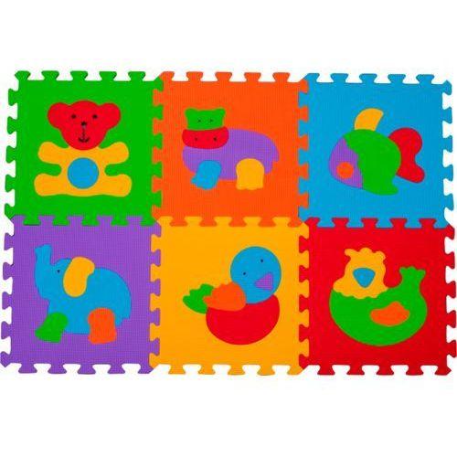 Babyono Puzzle piankowe  zwierzęta 6 szt (5901435404270)