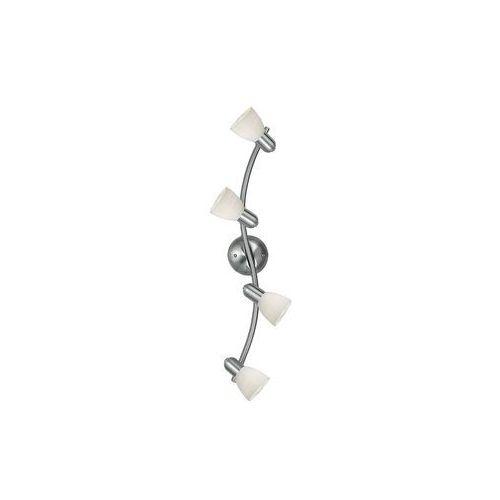 Eglo Listwa dakar 1 88474 oprawa sufitowa spot 4x40w e14 nikiel mat / biały