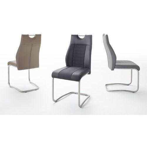 Krzesło na płozie TUTTI II stal szlachetna trzy kolory ekoskóry
