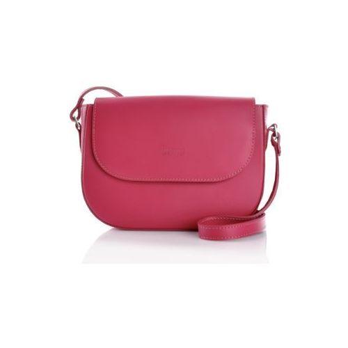 Mała torebka na ramię różowa, kolor różowy