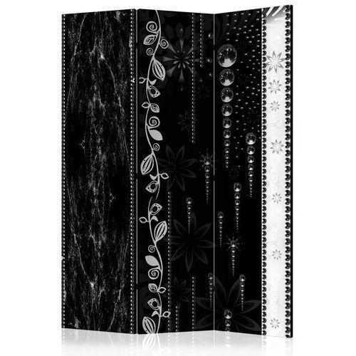 Parawan 3-częściowy - czarna elegancja [room dividers] marki Artgeist
