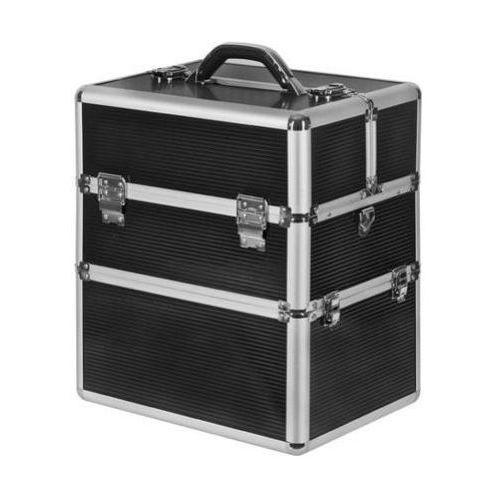 Neonail kuferek kosmetyczny neonail kuferek kosmetyczny duży xxl z dolną komorą - czarny