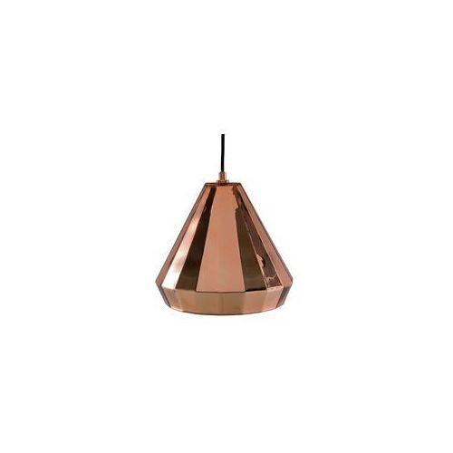 Beliani Lampa wisząca metalowa miedziana japura