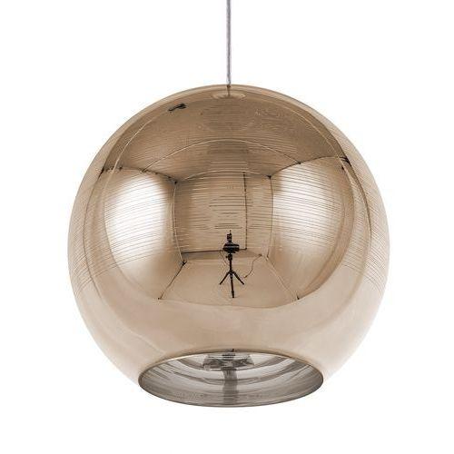 Lampa wisząca szklana złota ASARO (4260602372769)