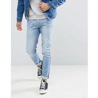 luke lightwash skinny jeans kick it wash - blue marki Lee