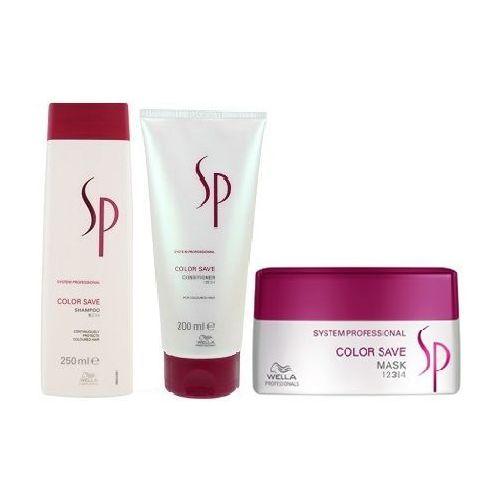 Wella sp  color save szampon 250ml + odżywka 200ml + maska 200ml