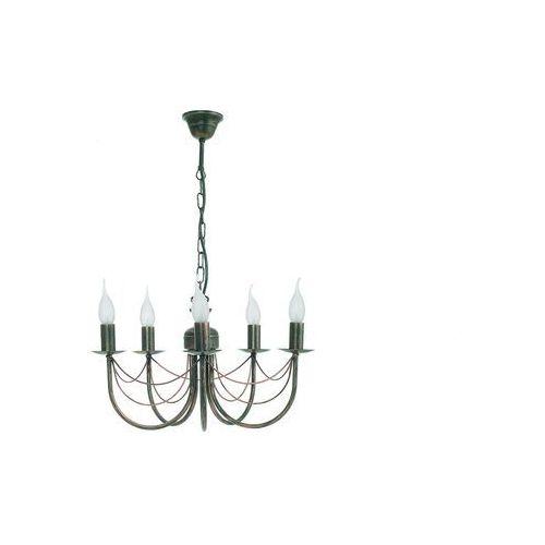 Nowodvorski Lampa wisząca wioletta v 1353 zwis 5x60w e14 antyczny brąz (5903139135399)