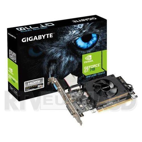 geforce cuda gt710 1gb ddr3 64bit - produkt w magazynie - szybka wysyłka! wyprodukowany przez Gigabyte