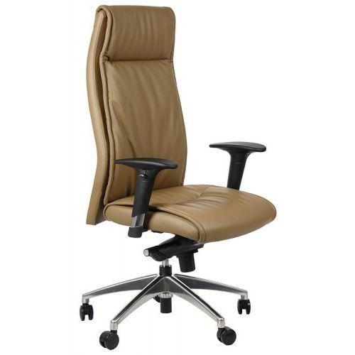Fotel biurowy gabinetowy gn-106/jasny brąz krzesło biurowe obrotowe marki Stema - gn