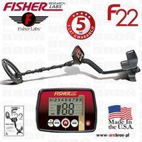 "Wykrywacz metali Fisher F22 cewka 9"" - GWARANCJA: 5 LAT - USA, Natępca F2, produkt marki Fisher Research Labs"