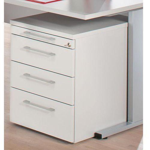 PETRA - Kontener na kółkach, półka na dokumenty, 3 szuflady, jasnoszary. Kontene