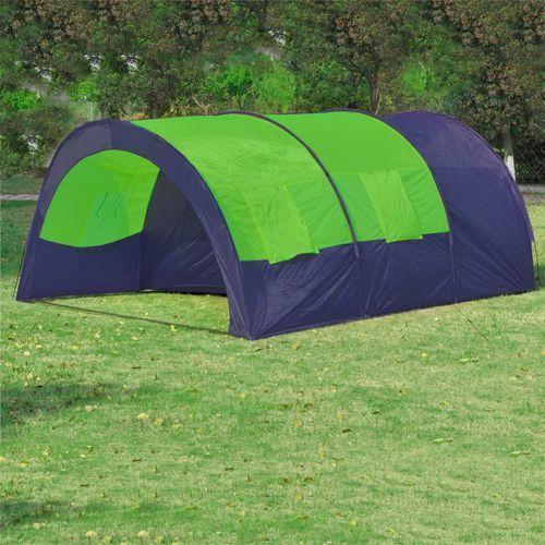 vidaXL Namiot turystyczny 6-osobowy, niebiesko-zielony (8718475850762)