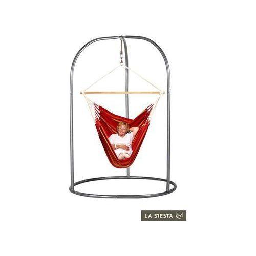 Zestaw hamakowy: leżak hamakowy currambera ze stojakiem romano, czerwony cul21roa16 marki La siesta