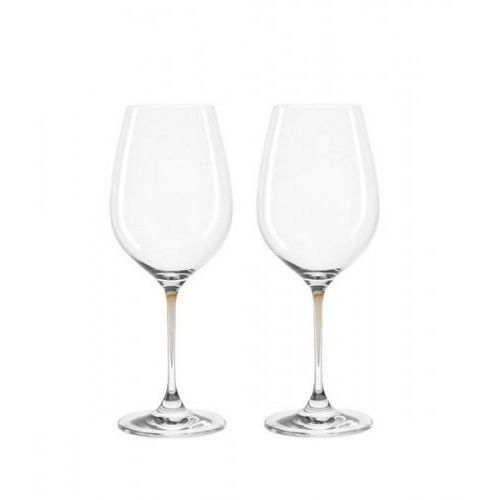 Lo - zestaw 2 kieliszków do wina, brąz, la perla marki Leonardo