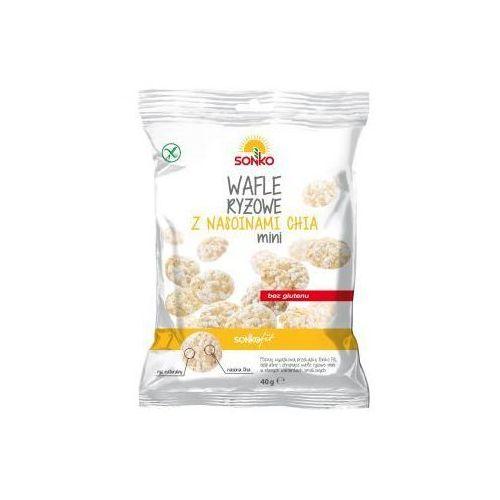 Wafle ryżowe mini z nasionami chia 40 g Sonko