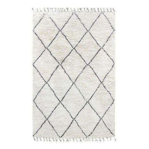 dywan wełniany berberyjski czarno-biały (180x280) ttk3032 marki Hk living