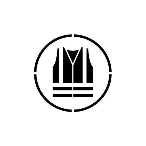 Szablon do malowania Znak Nakaz używania kamizelki odblaskowej GO015 - 85x85 cm
