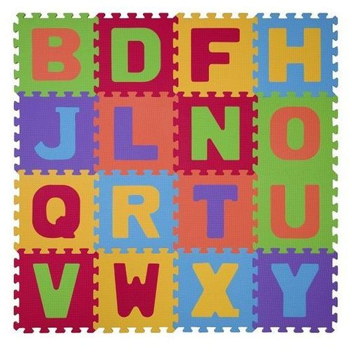 BabyOno Puzzle piankowe 16szt. LITERY 6m+ (5901435405741)