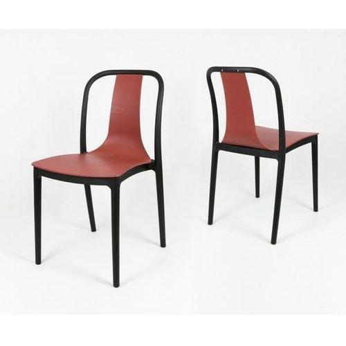 Sk design kr053 czerwone krzesło polipropylenowe - czerwony ||czarny