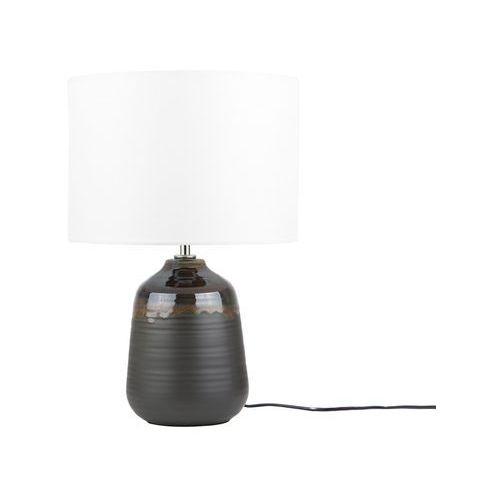 lampa stołowa czarno-brązowa DESNA