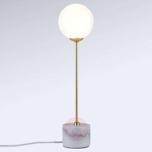 Paulmann Moa - lampa stołowa z marmurowym cokołem