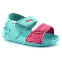 Sandały dla dzieci z pianki 6631 - zielony ||różowy marki American club