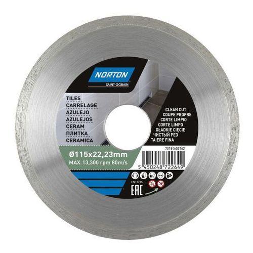 Tarcza diamentowa Norton do cięcia ceramiki 115 x 22 23 mm (5450248722649)