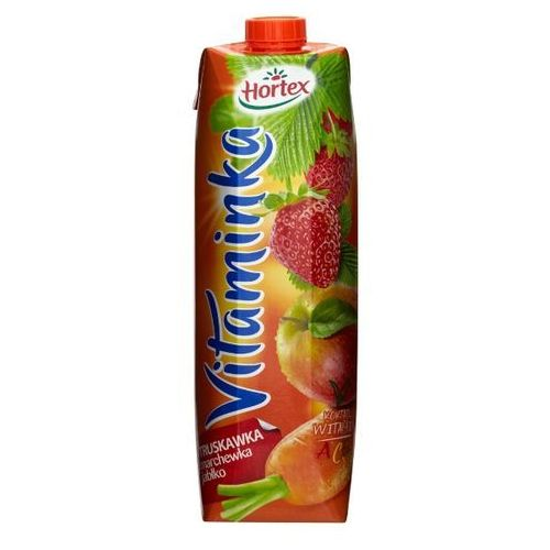 HORTEX 1l Vitaminka Truskawka marchewka jabłko Sok | DARMOWA DOSTAWA OD 150 ZŁ!