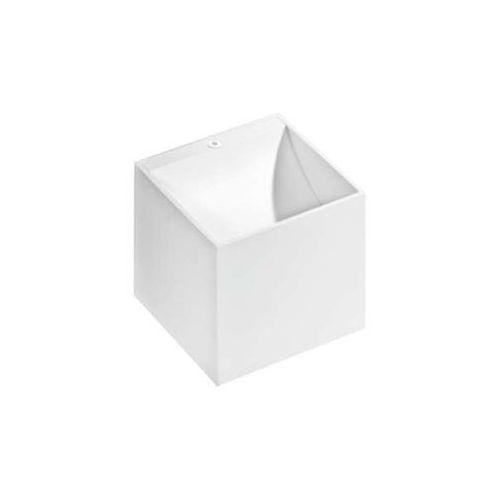 Kinkiet lampa ścienna mars gm1109 wh metalowa oprawa kostka kwadratowa biała marki Azzardo