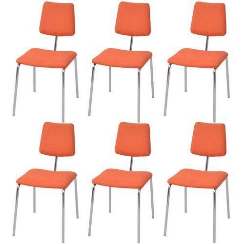 Vidaxl krzesła jadalniane materiałowe, pomarańczowe, 6 szt. (8718475550068)