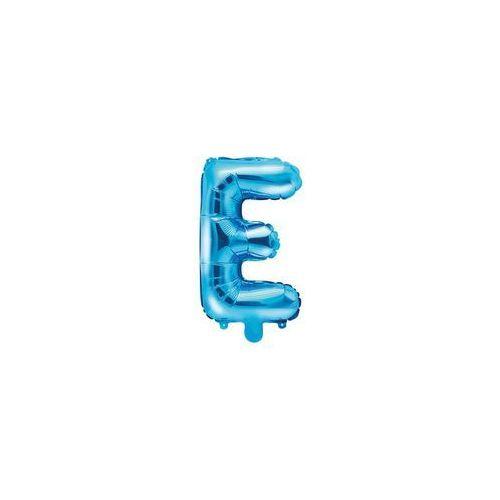 """Party deco Balon foliowy litera """"e"""" niebieska - 35 cm (5902230779174)"""