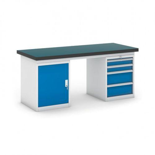 B2b partner Stół warsztatowy gb z szafką i kontenerem szufladowym, 1800 mm