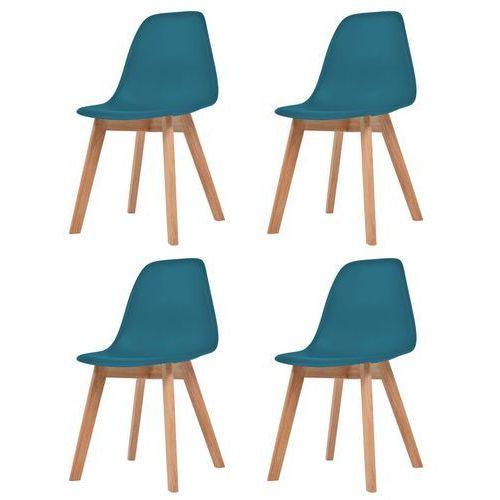 Krzesła do jadalni, 4 sztuki, turkusowe
