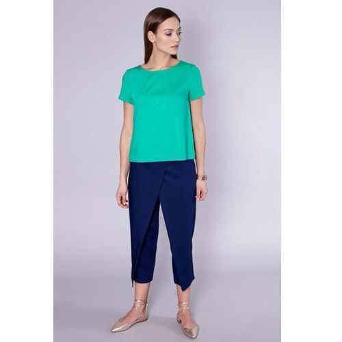 Spodnie damskie model latina 1653 navy marki Click fashion