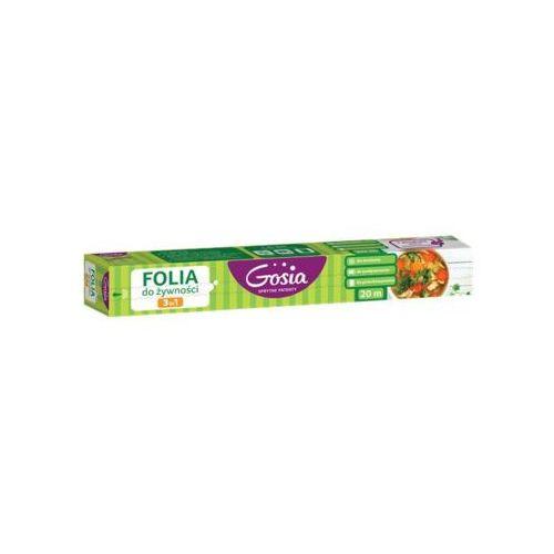 GOSIA 20m Folia do żywności 3w1 z nożykiem Rolka