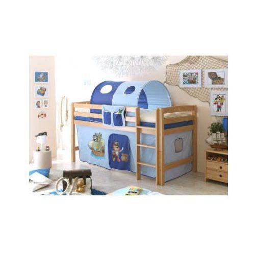 Ticaa łóżko piętrowetimmy r buk, naturalny - pirat jasnoniebieski/ciemnoniebieski marki Ticaa kindermöbel