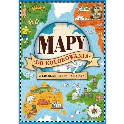 Mapy do kolorowania Z kredkami dookoła świata - Wydawnictwo Olesiejuk