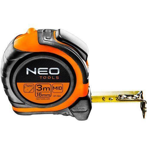 Miara zwijana NEO stalowa 3mx16mm (5907558425628)