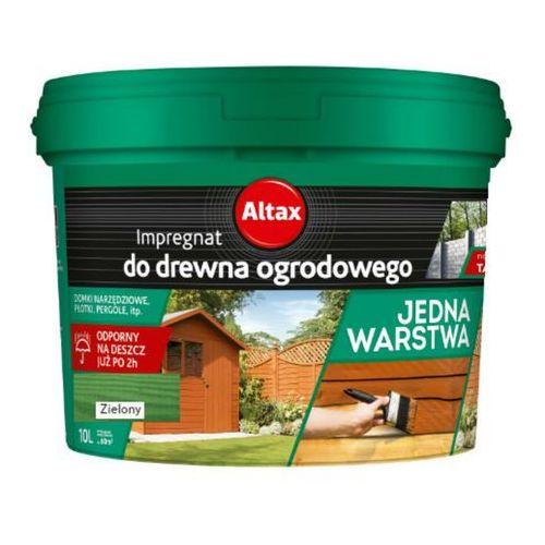 ALTAX- impregnat do drewna ogrodowego, zielony, 10 l